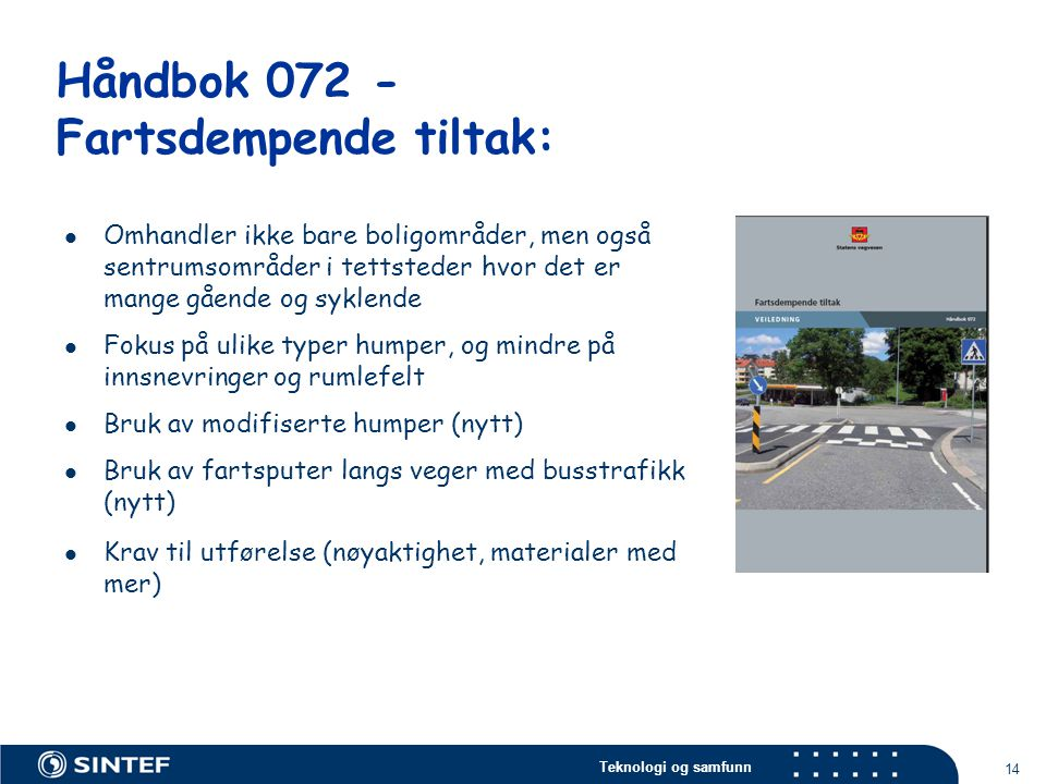 Håndbok 072 - Fartsdempende tiltak: