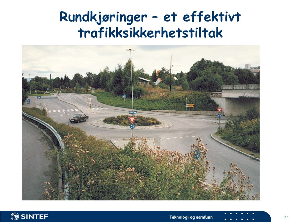 Rundkjøringer – et effektivt trafikksikkerhetstiltak