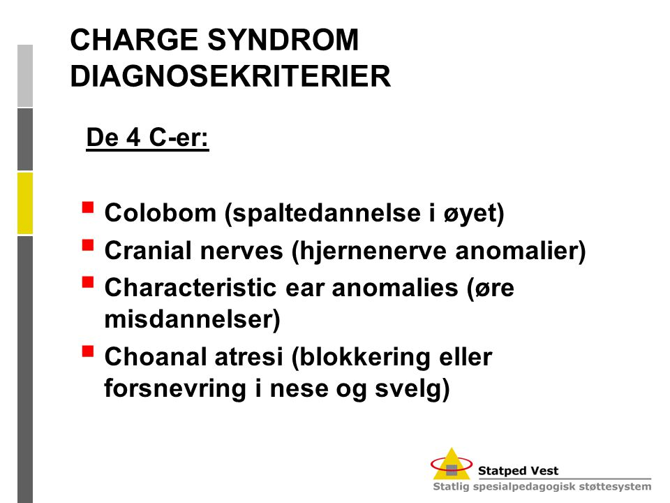 CHARGE SYNDROM DIAGNOSEKRITERIER