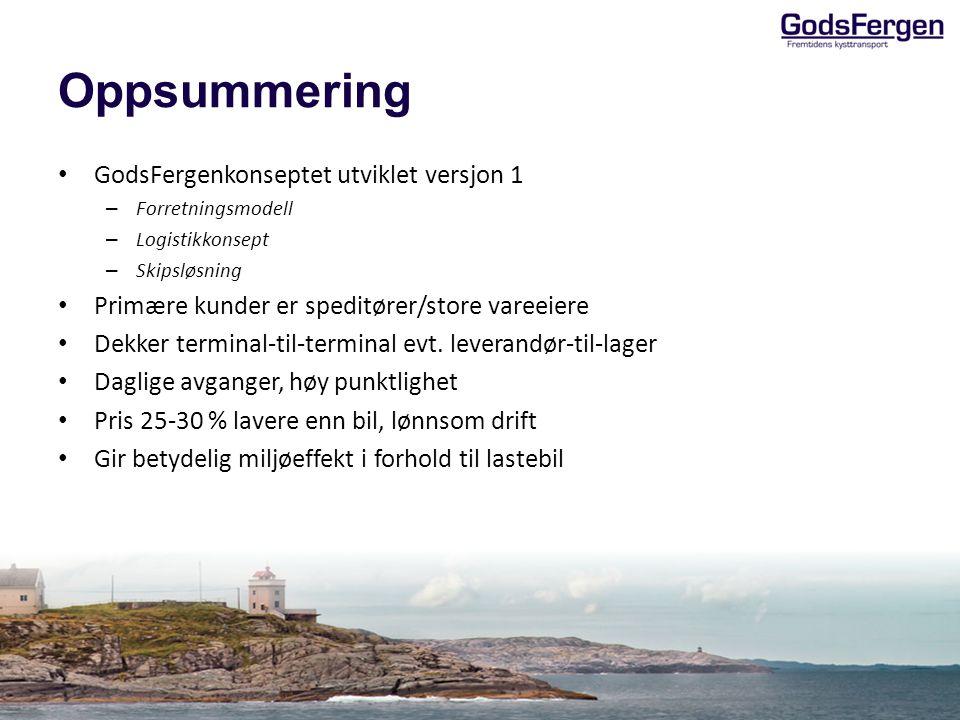 Oppsummering GodsFergenkonseptet utviklet versjon 1