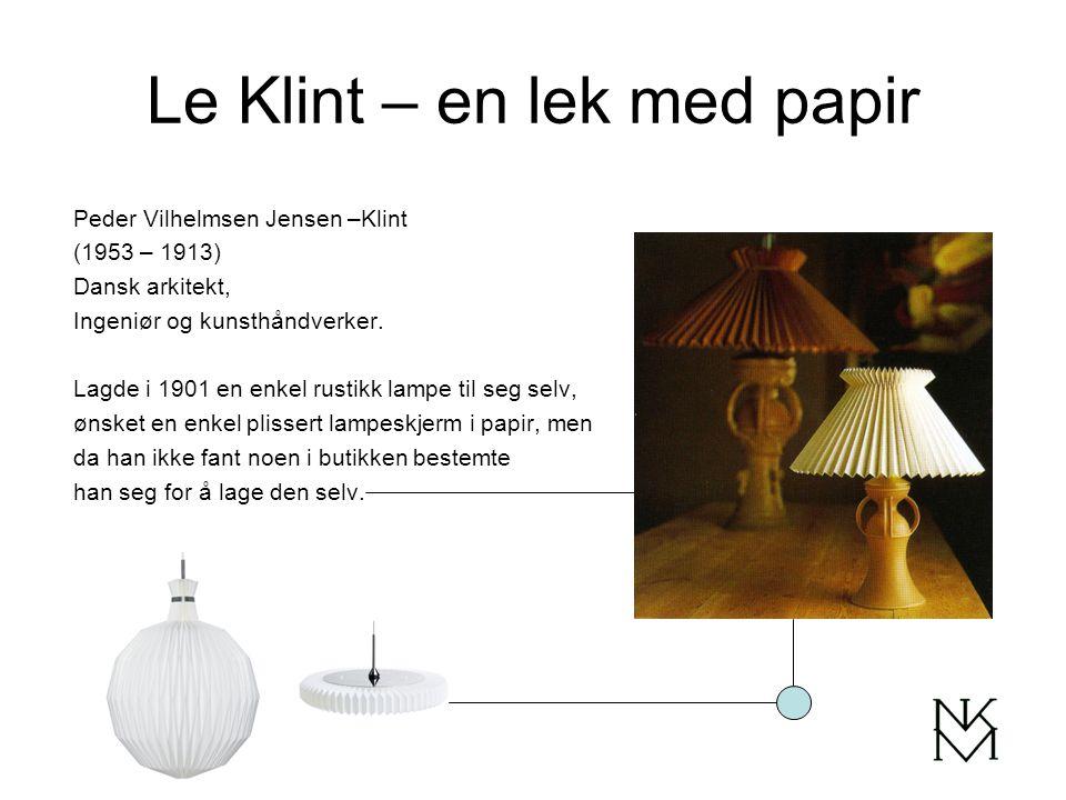 Le Klint – en lek med papir