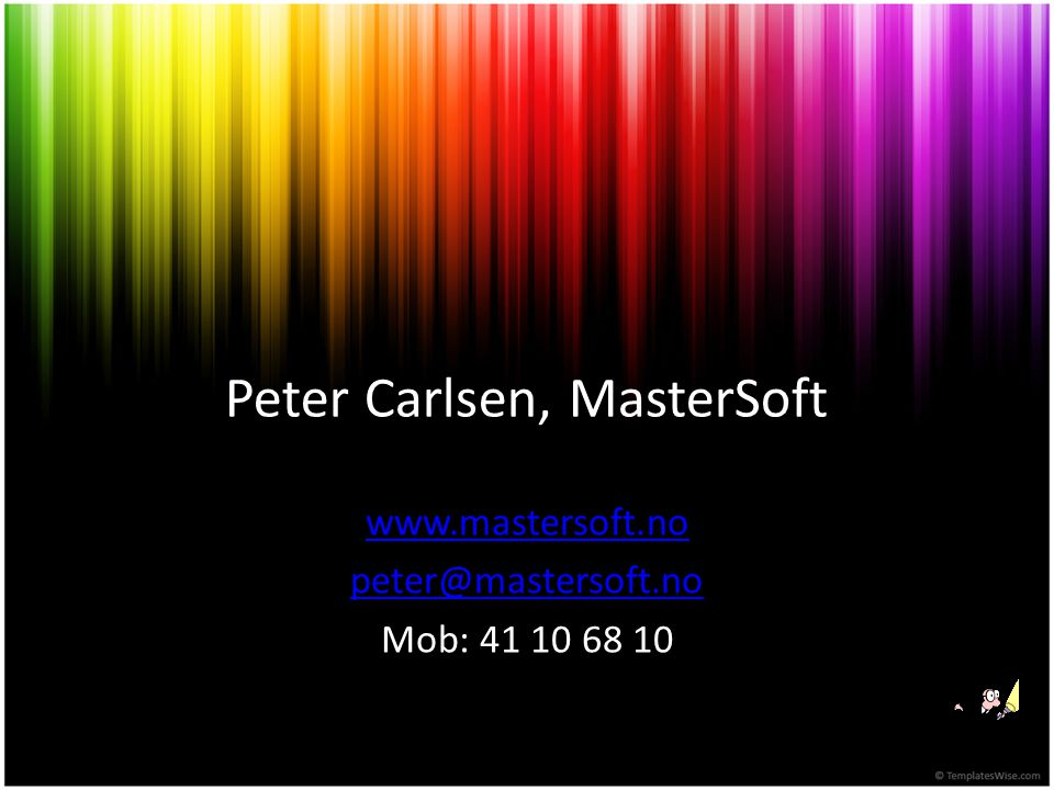 Peter Carlsen, MasterSoft