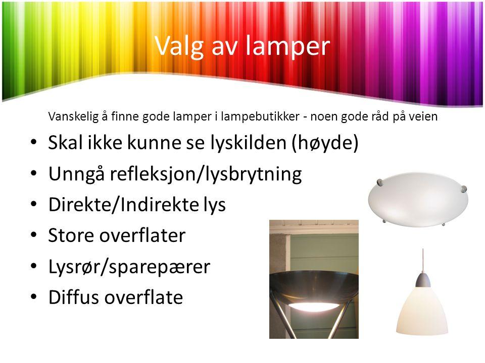 Vanskelig å finne gode lamper i lampebutikker - noen gode råd på veien
