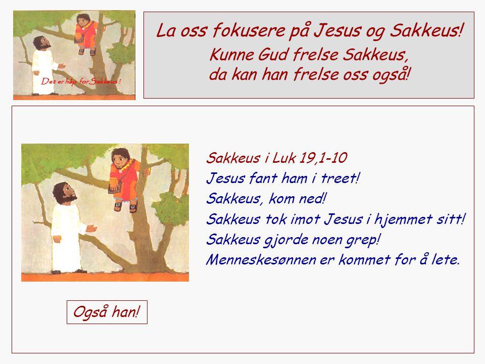 La oss fokusere på Jesus og Sakkeus!