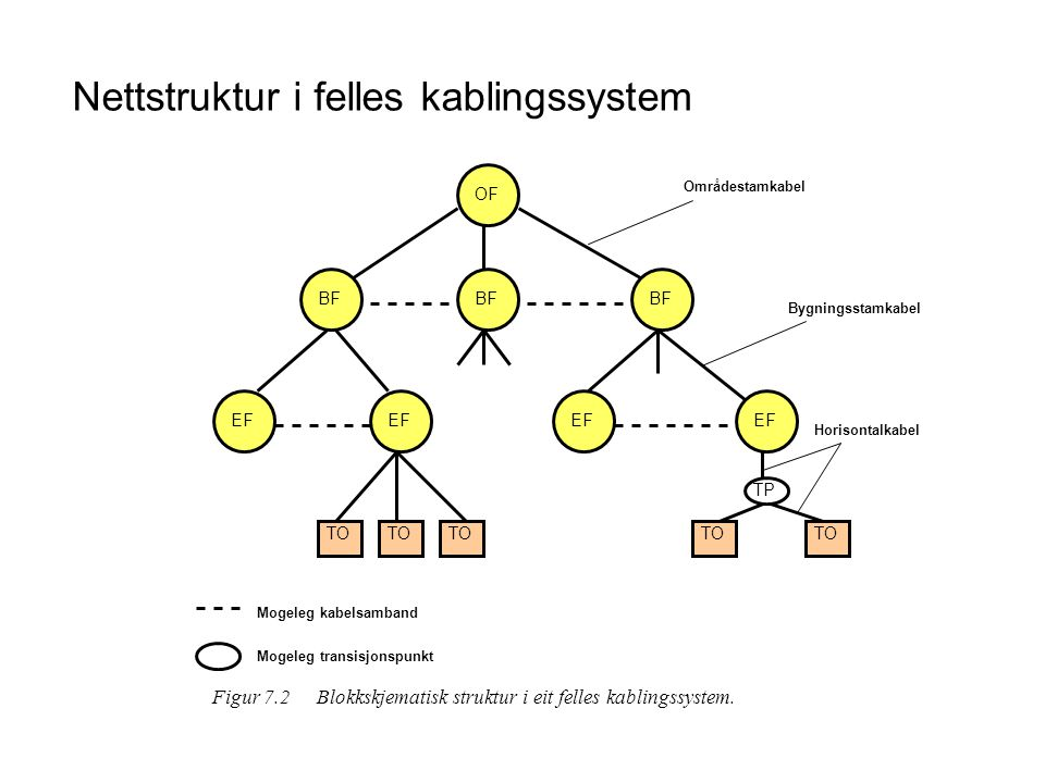 Nettstruktur i felles kablingssystem