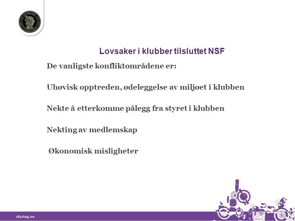 Lovsaker i klubber tilsluttet NSF