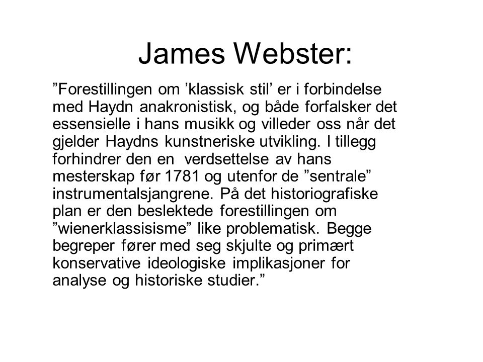James Webster:
