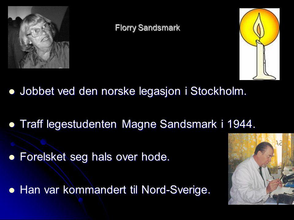 Jobbet ved den norske legasjon i Stockholm.