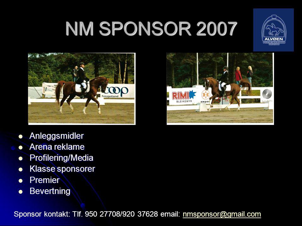 NM SPONSOR 2007 Anleggsmidler Arena reklame Profilering/Media