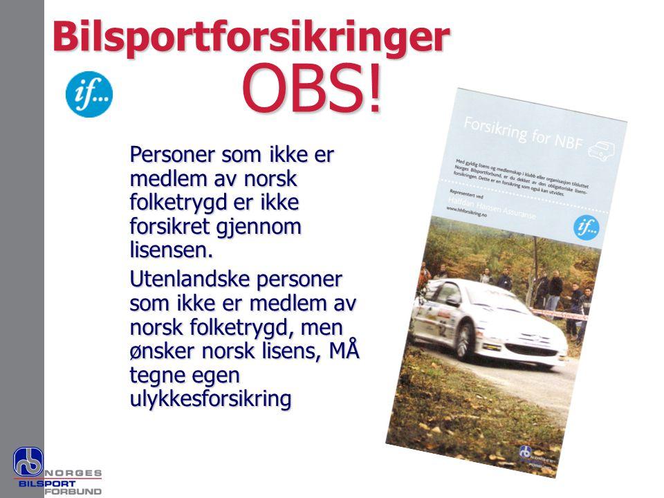 OBS! Bilsportforsikringer