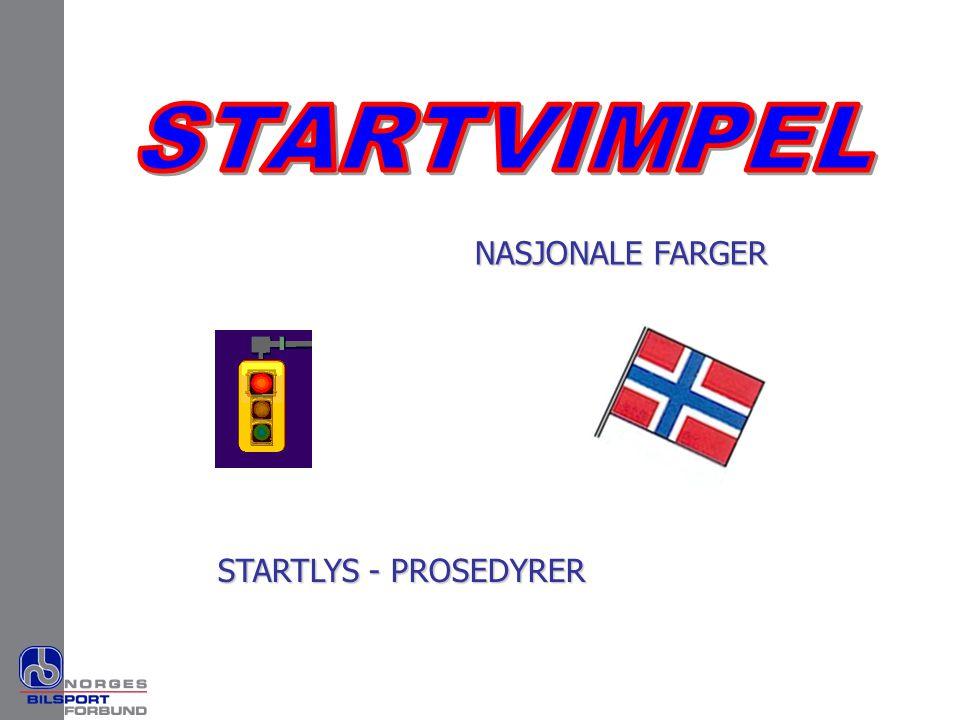 STARTVIMPEL NASJONALE FARGER STARTLYS - PROSEDYRER