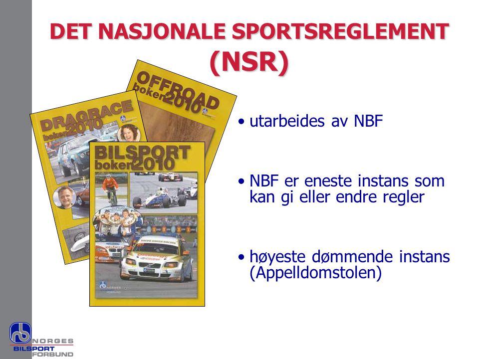 DET NASJONALE SPORTSREGLEMENT (NSR)