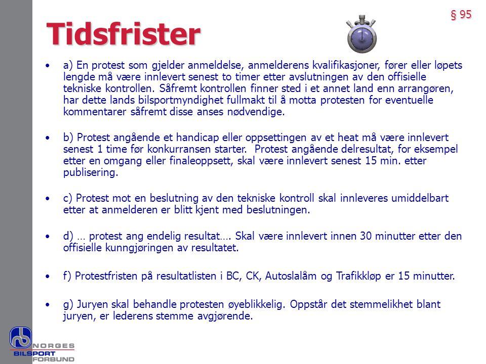 § 95 Tidsfrister.
