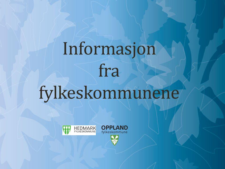 Informasjon fra fylkeskommunene