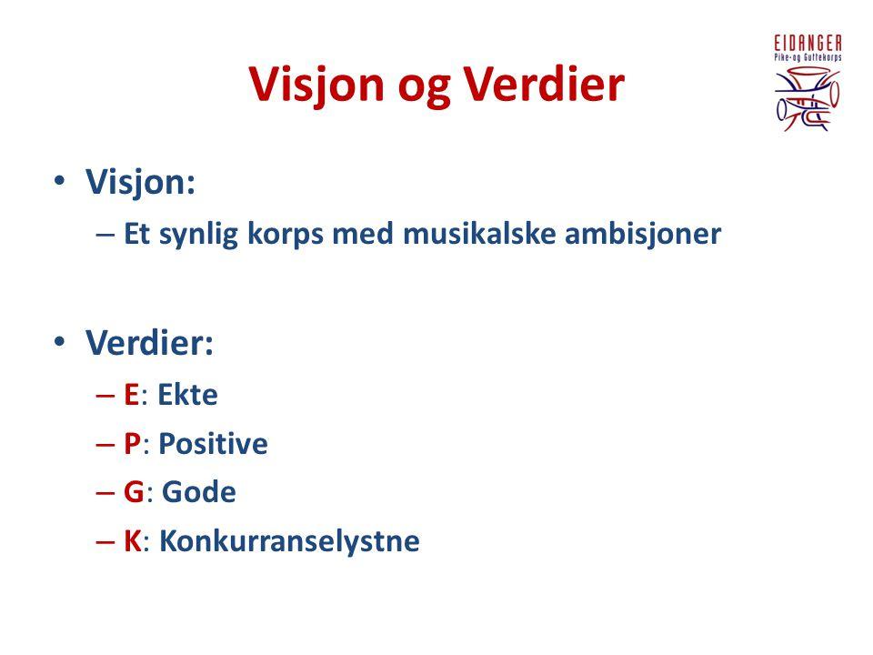 Visjon og Verdier Visjon: Verdier: