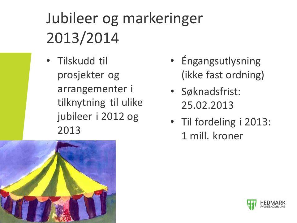 Jubileer og markeringer 2013/2014