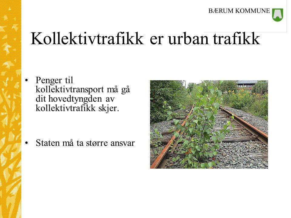 Kollektivtrafikk er urban trafikk