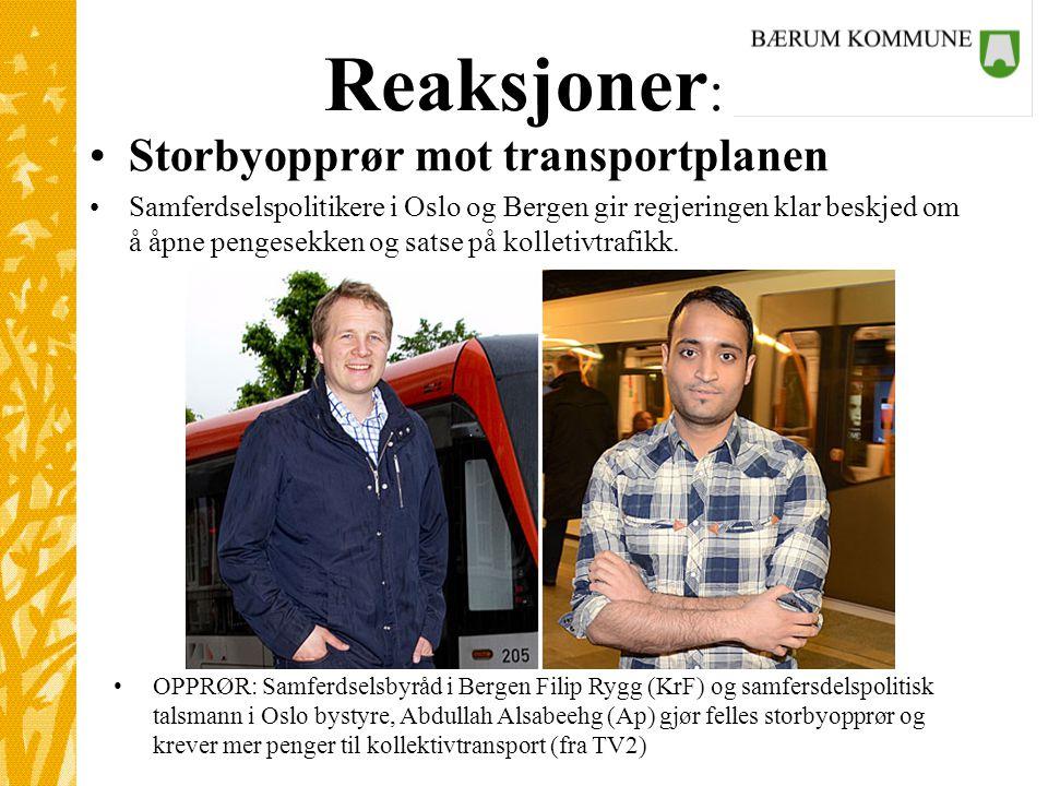 Reaksjoner: Storbyopprør mot transportplanen