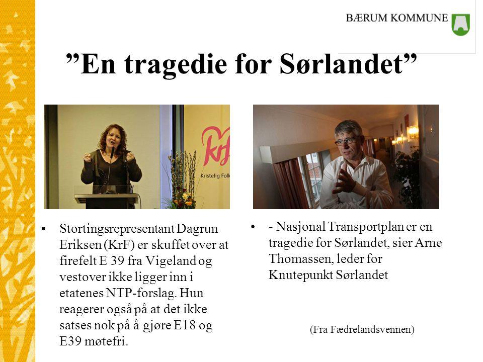 En tragedie for Sørlandet
