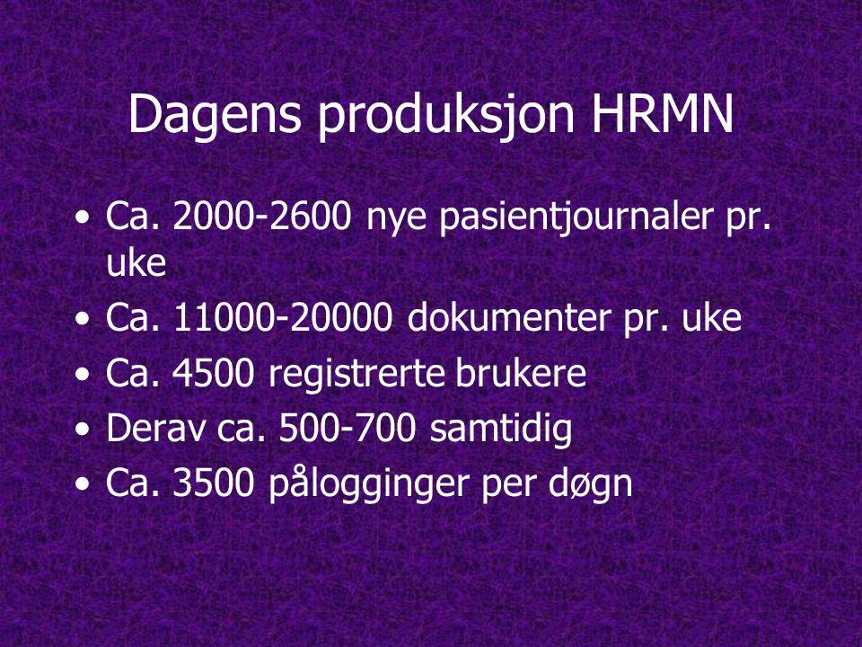 Dagens produksjon HRMN