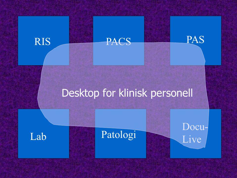PAS RIS PACS Desktop for klinisk personell Docu-Live Patologi Lab