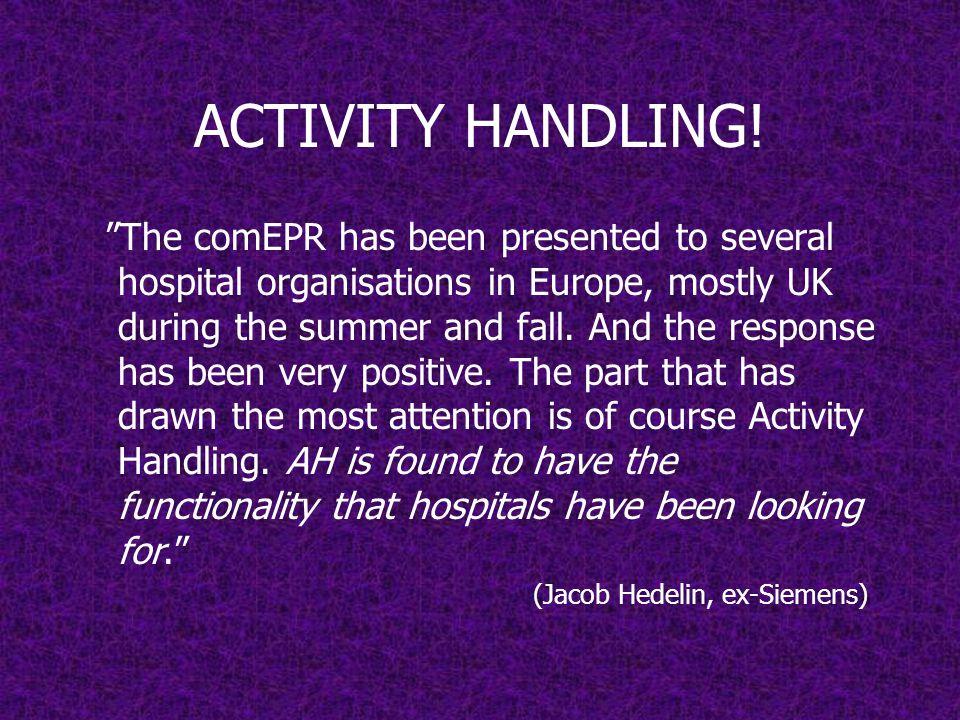 ACTIVITY HANDLING!