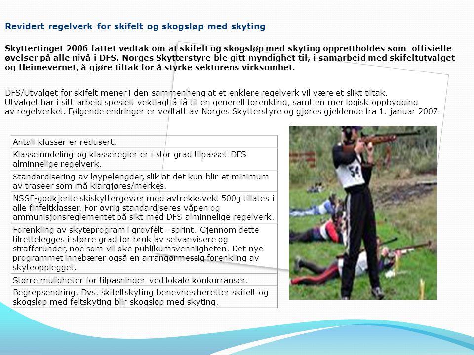 Revidert regelverk for skifelt og skogsløp med skyting