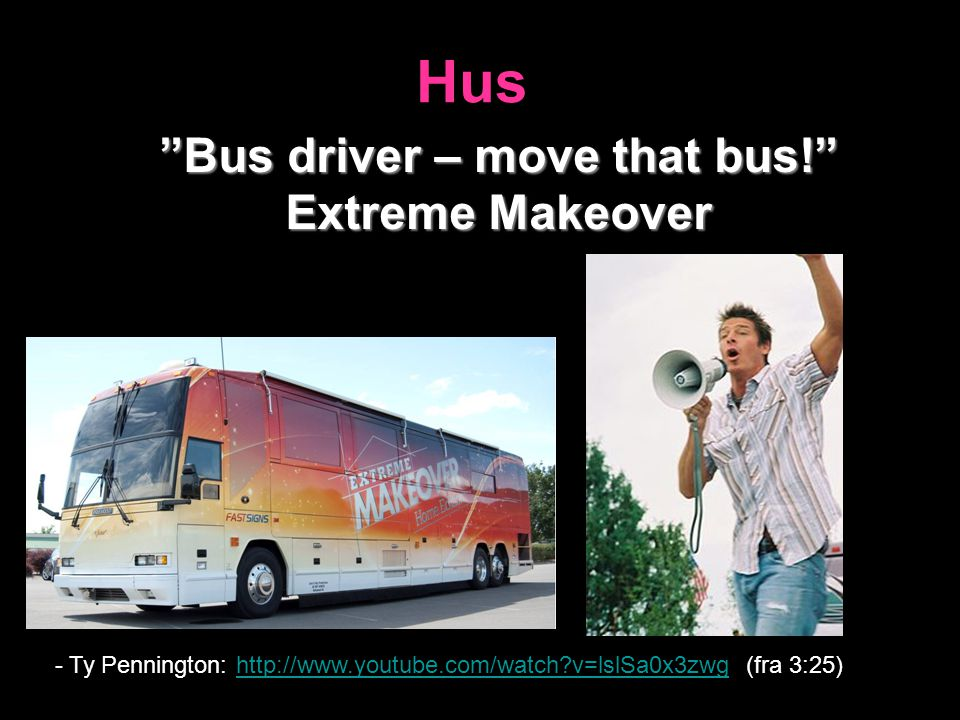 Bus driver – move that bus!