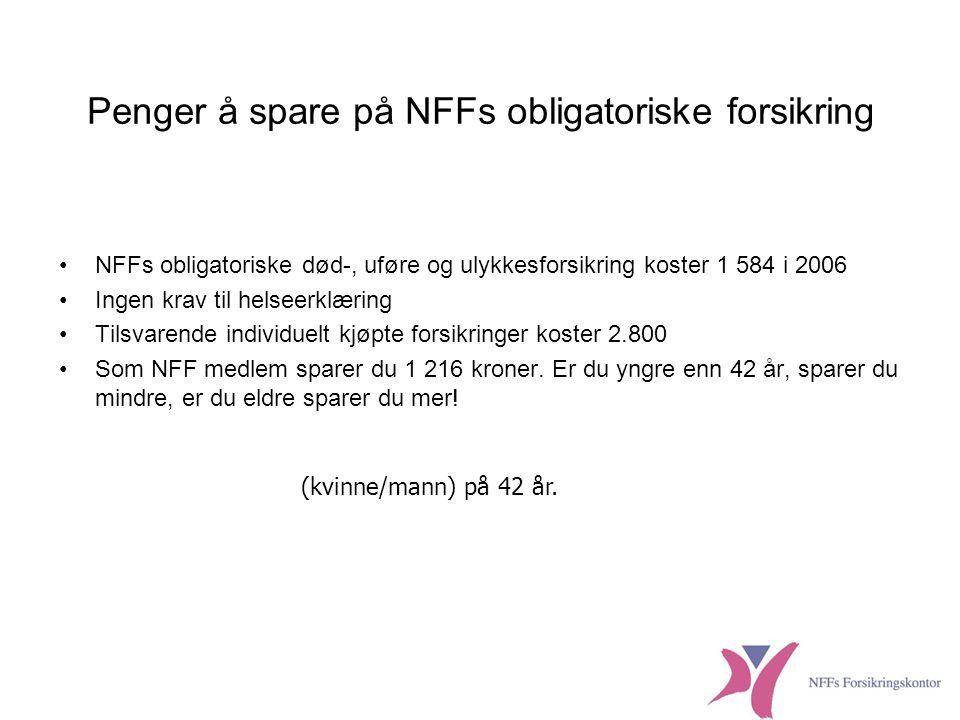 Penger å spare på NFFs obligatoriske forsikring