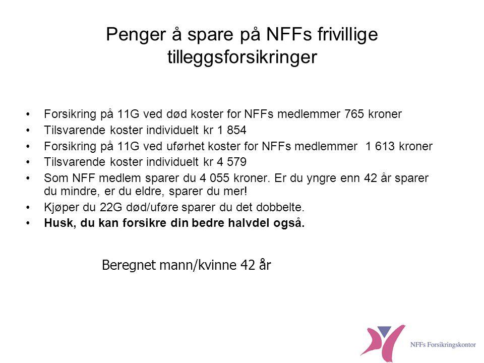 Penger å spare på NFFs frivillige tilleggsforsikringer