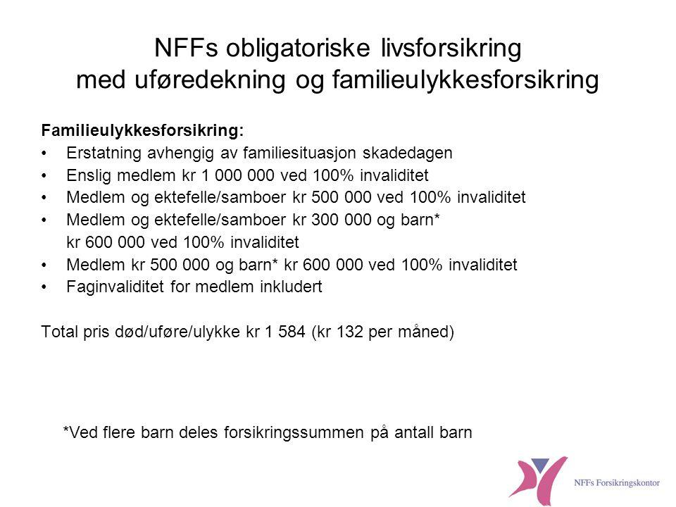NFFs obligatoriske livsforsikring med uføredekning og familieulykkesforsikring