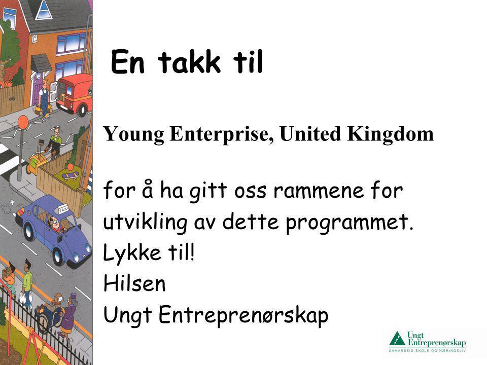 En takk til Young Enterprise, United Kingdom