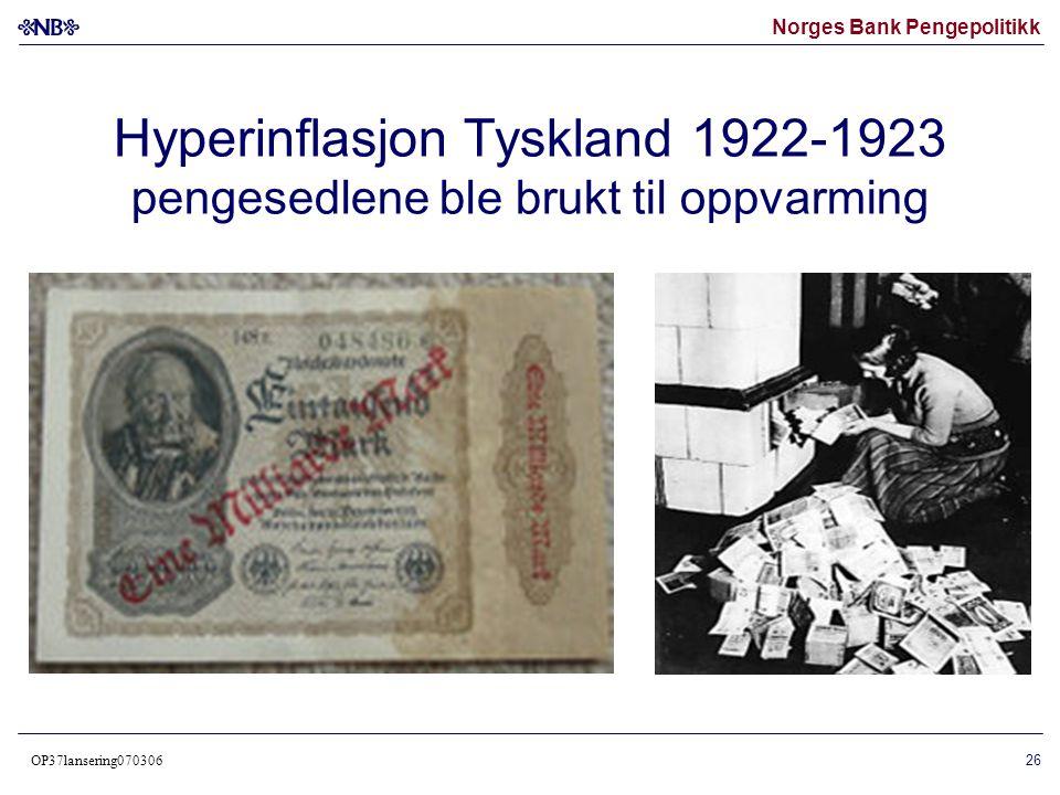 Hyperinflasjon Tyskland 1922-1923 pengesedlene ble brukt til oppvarming