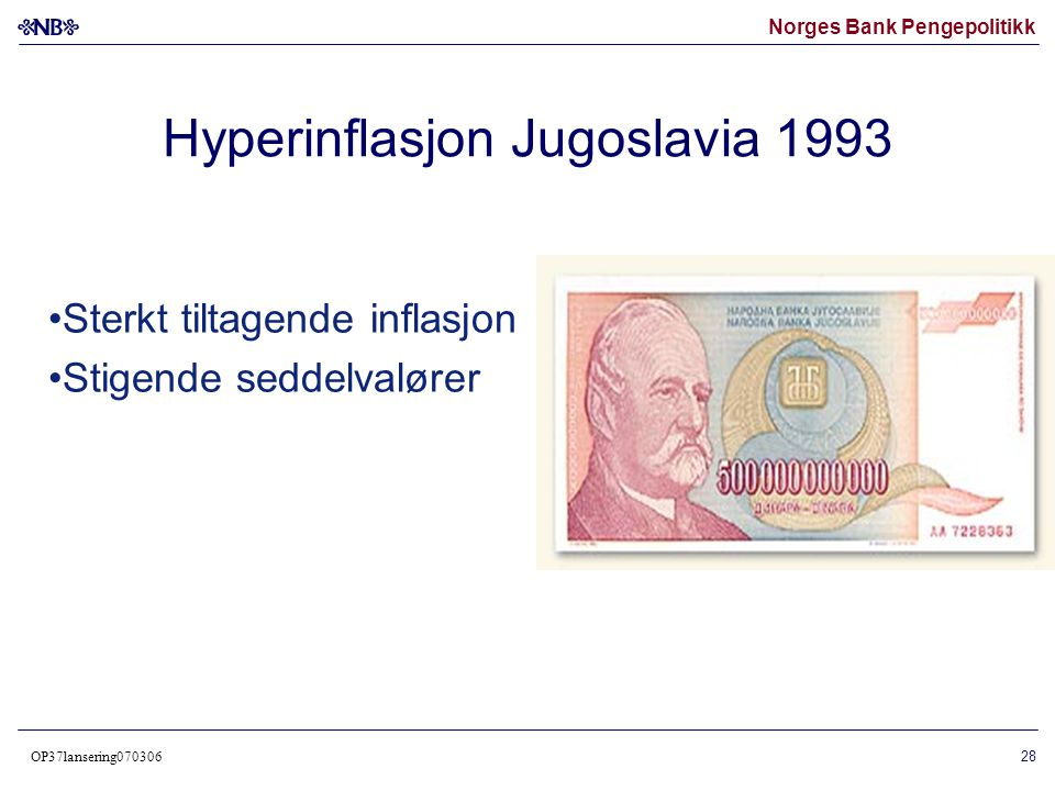 Hyperinflasjon Jugoslavia 1993