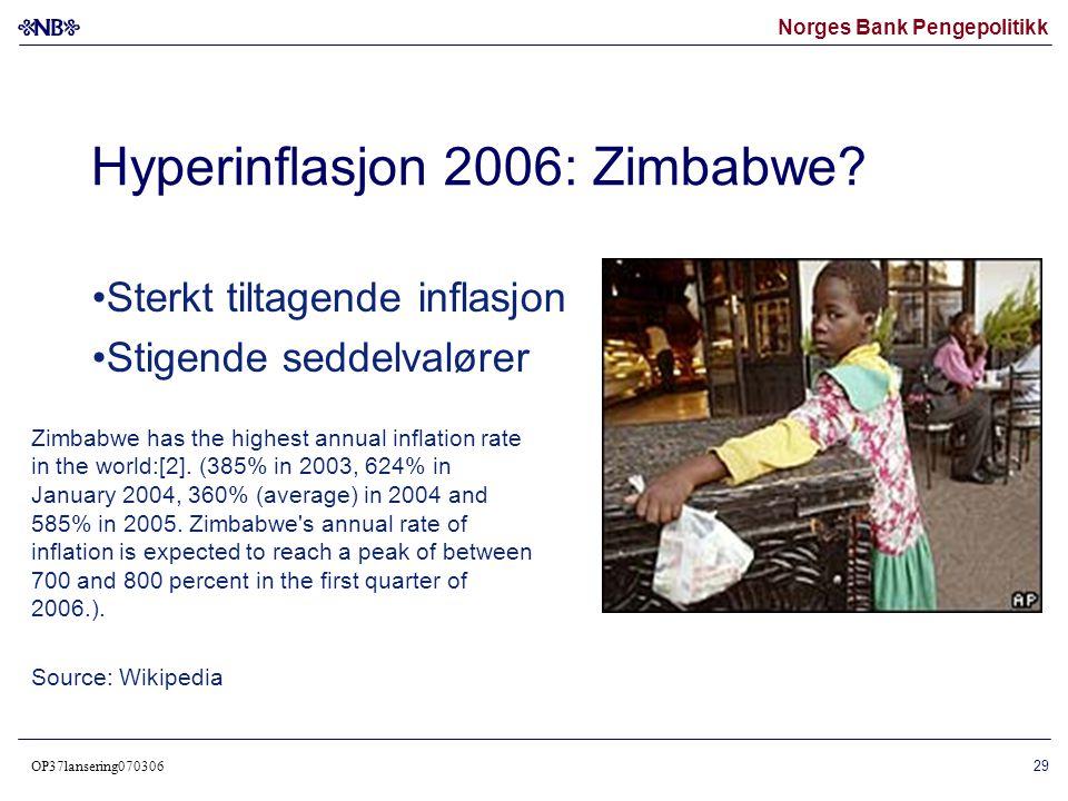 Hyperinflasjon 2006: Zimbabwe