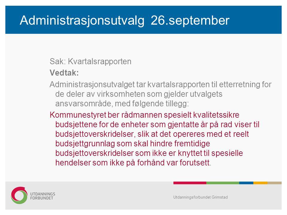 Administrasjonsutvalg 26.september