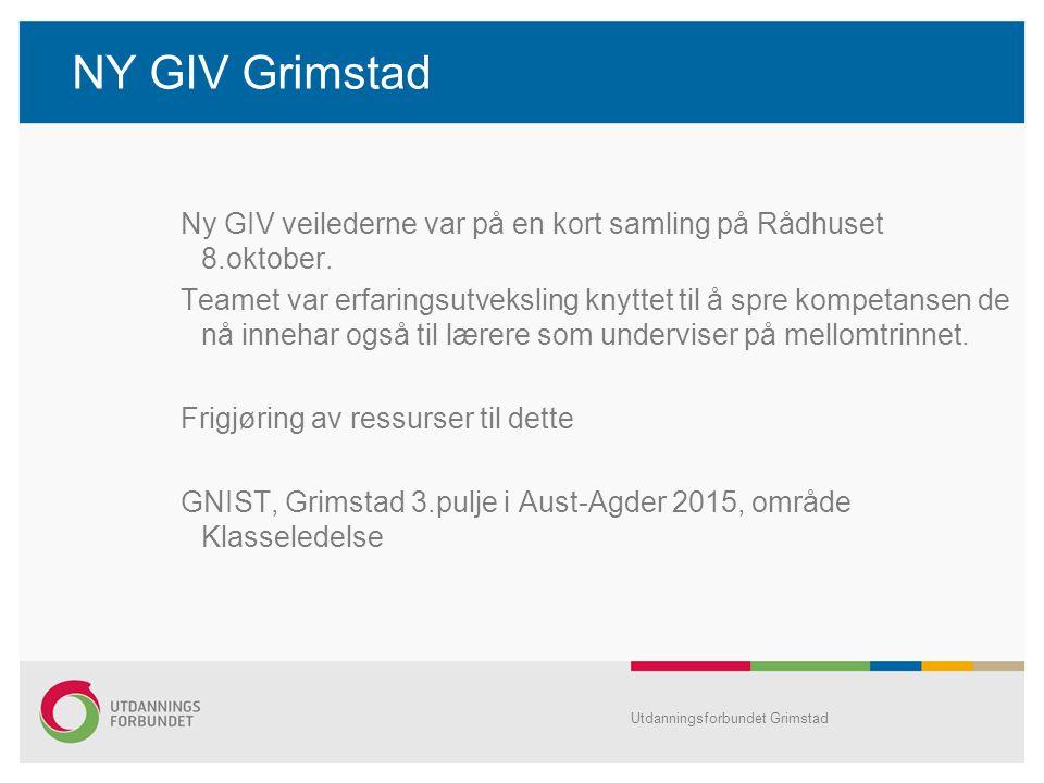 NY GIV Grimstad