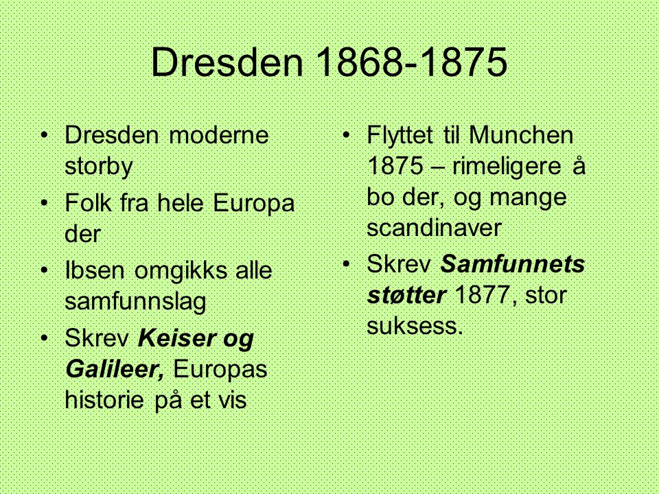 Dresden 1868-1875 Dresden moderne storby Folk fra hele Europa der