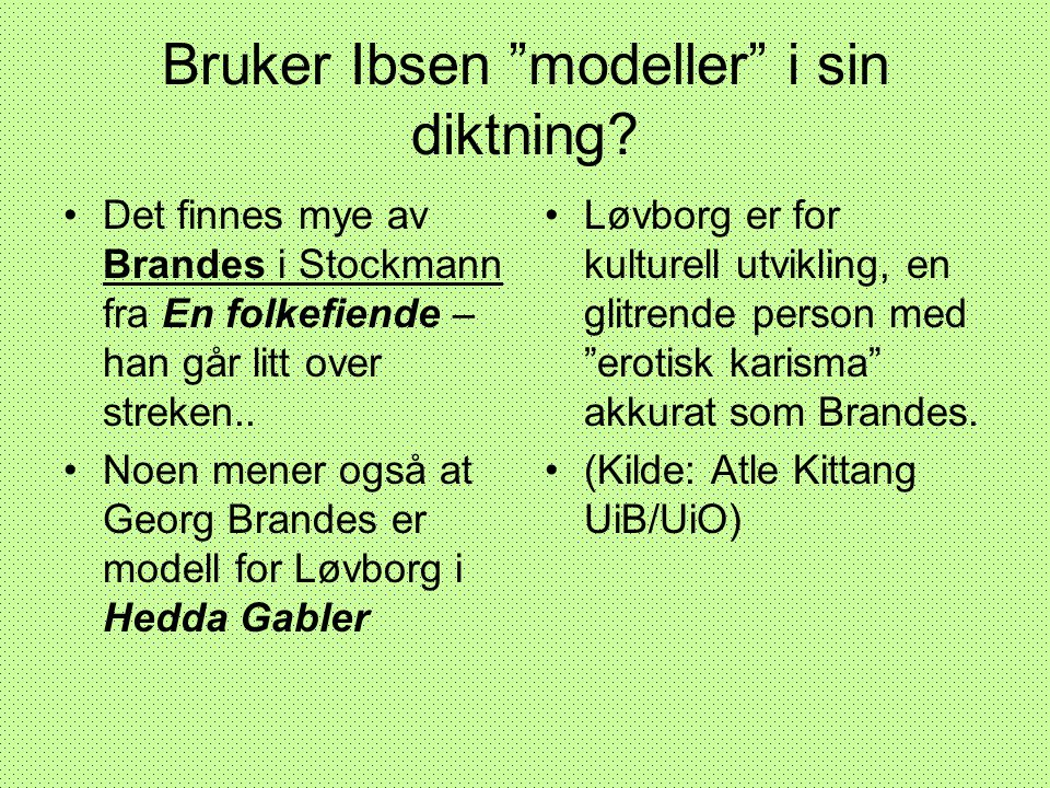 Bruker Ibsen modeller i sin diktning