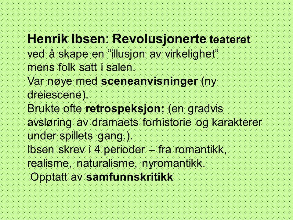 Henrik Ibsen: Revolusjonerte teateret