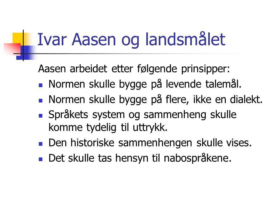 Ivar Aasen og landsmålet