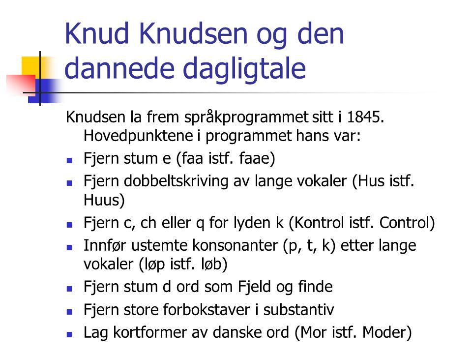 Knud Knudsen og den dannede dagligtale