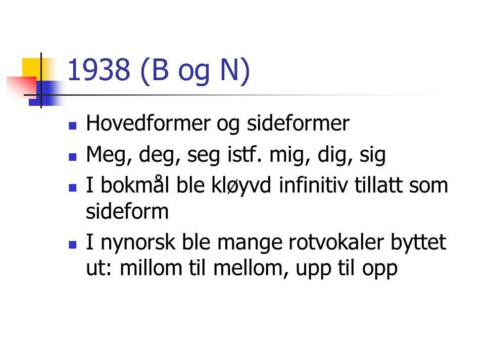 1938 (B og N) Hovedformer og sideformer