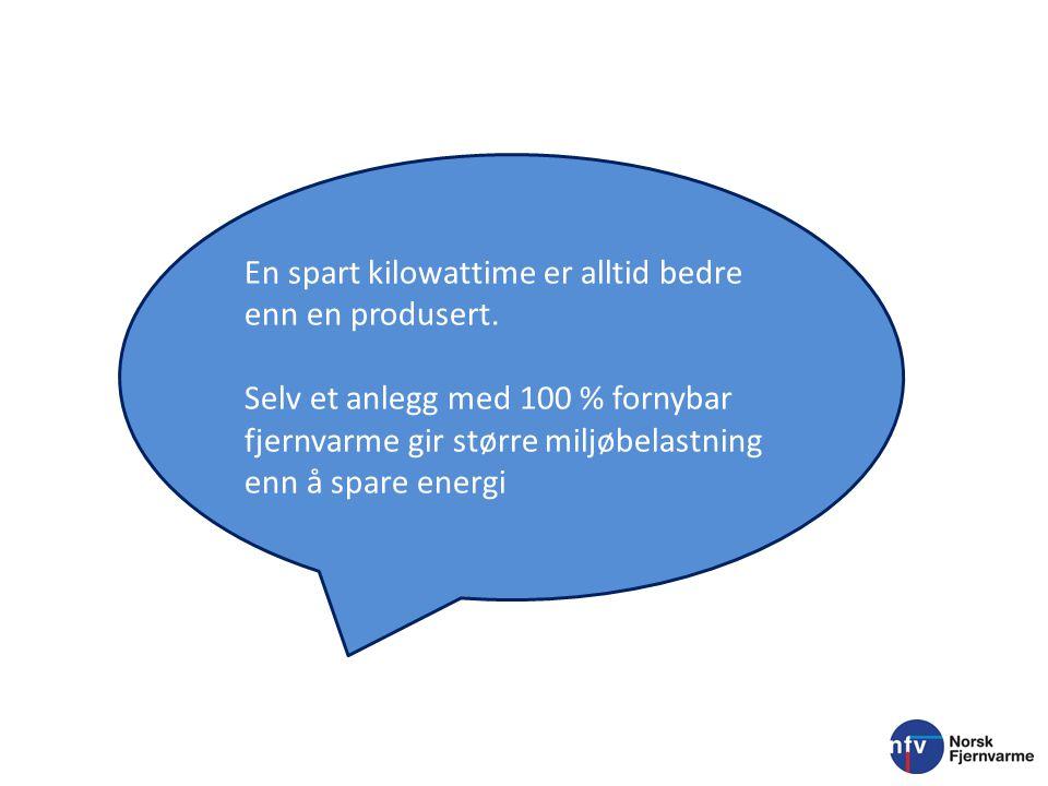 En spart kilowattime er alltid bedre enn en produsert.
