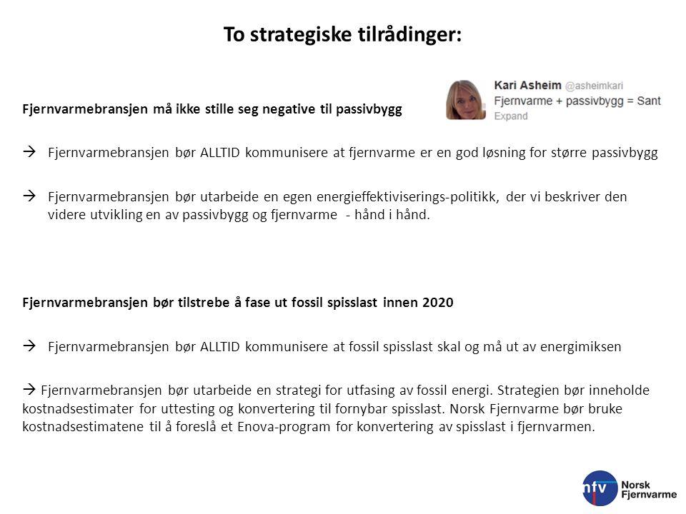 To strategiske tilrådinger: