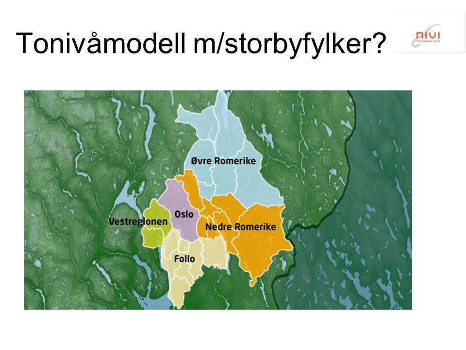Tonivåmodell m/storbyfylker