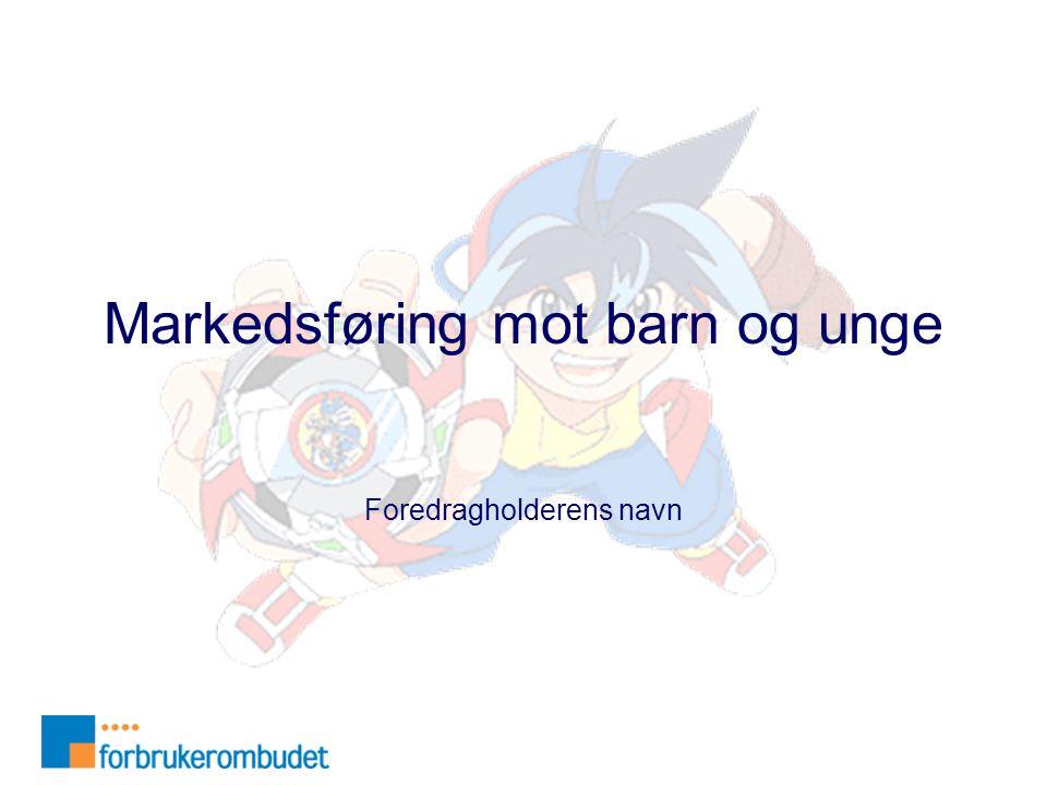 Markedsføring mot barn og unge