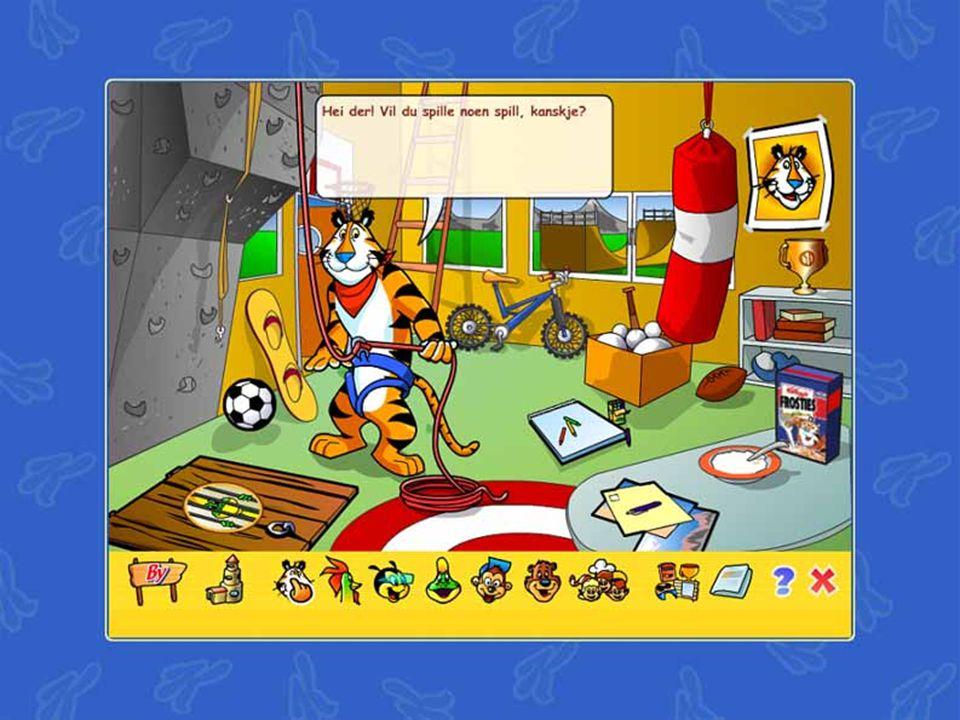 Fra Kelloggs internettside – spill og leker