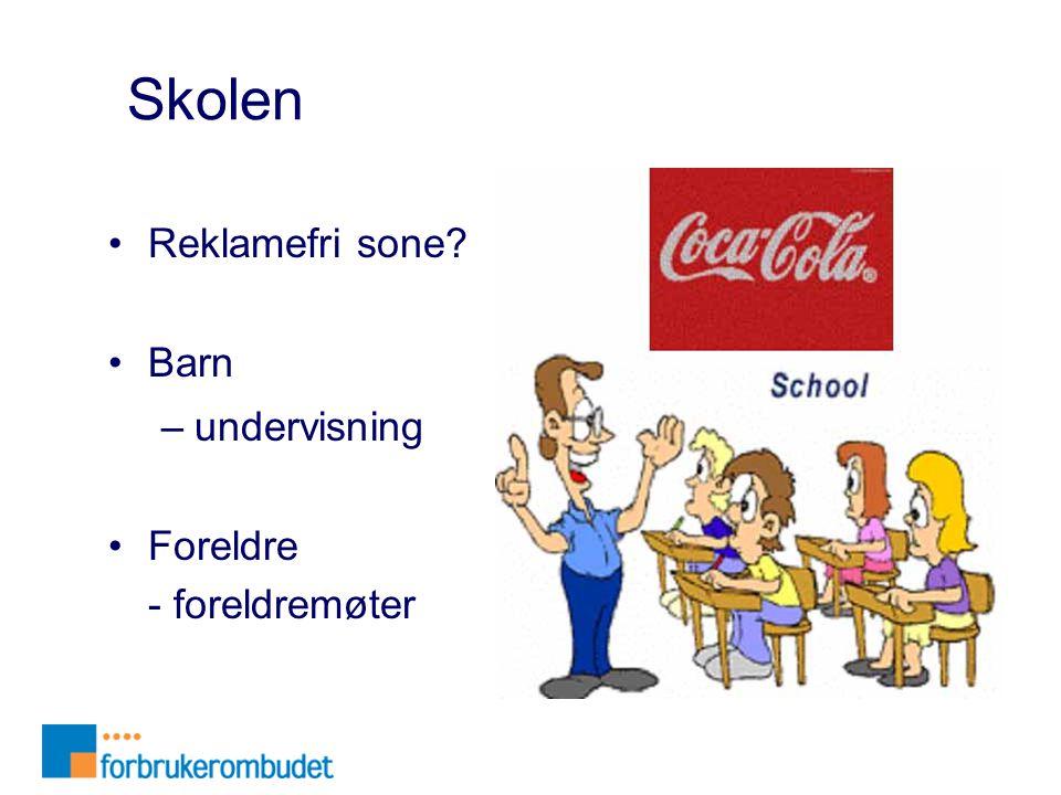 Skolen Reklamefri sone Barn undervisning Foreldre - foreldremøter