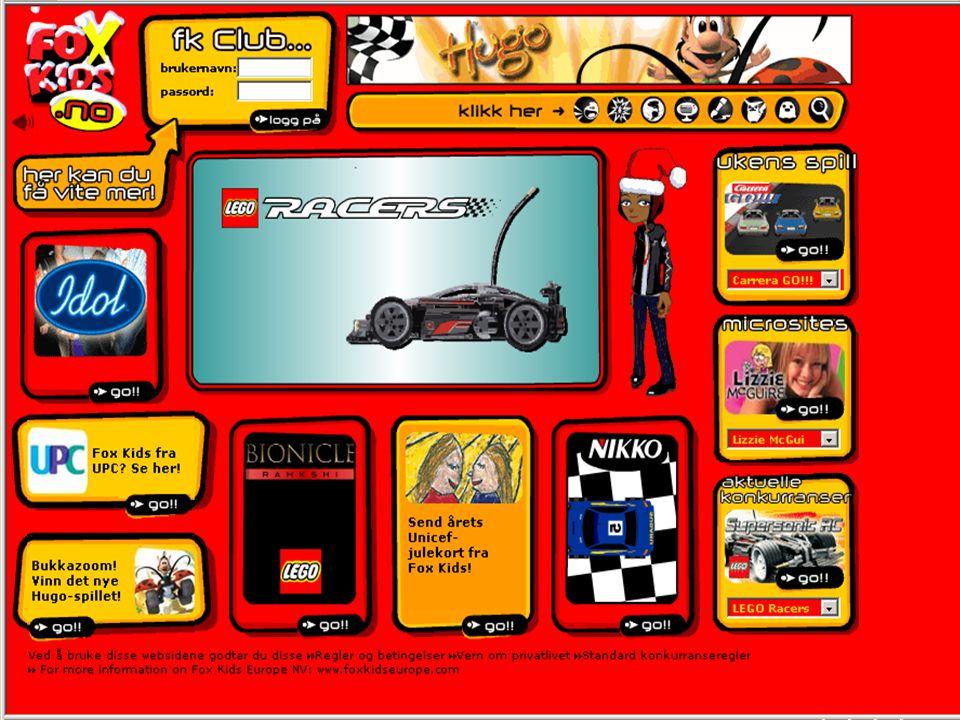 Dette er Fox Kids internettsider. Mye gøy for barn å finne på